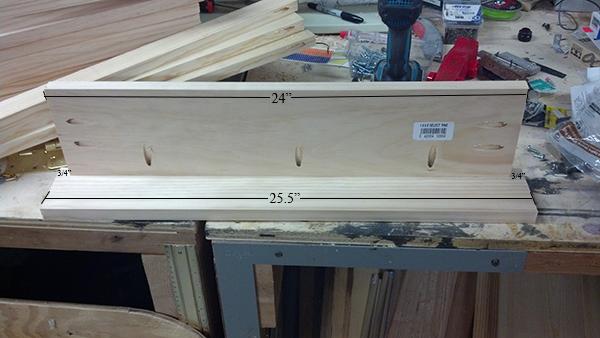 Carpetball Table Plans Step 1